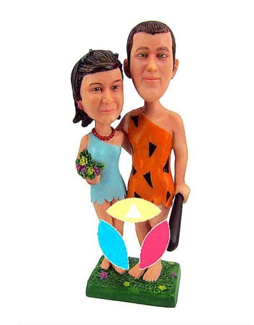Savage Costume Couple Custom Bobble Head