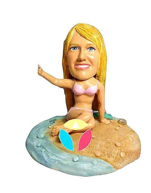 Sexy Post Bikini Woman Custom Bobblehead Doll
