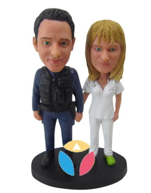 Soldier With Doctor Custom Couple Bobbleheads