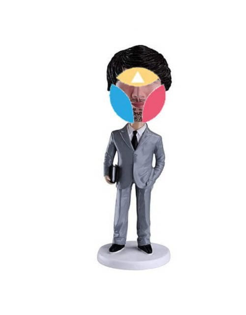 Suit with Book Custom Bobblehead