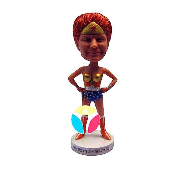 Super Girl custom bobblehead doll