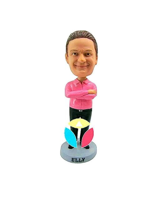 Tucked Shirt With Hands Crossed Bobble Head