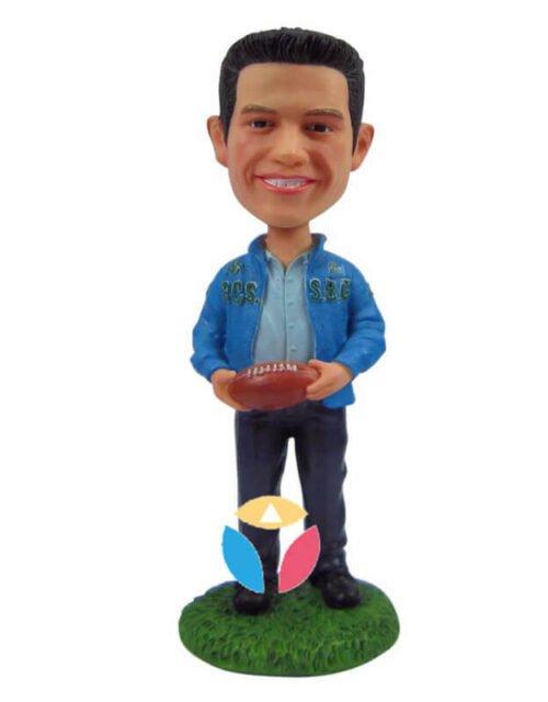 Want Play Football Custom Bobble Head