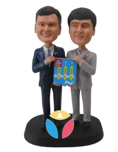 We Win A Prize Together Couple Bobbleheads