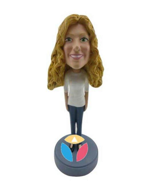 Businesswoman Custom Bobblehead Doll
