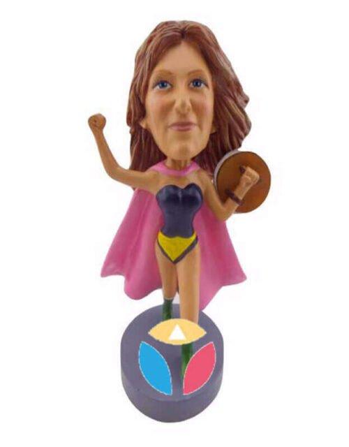Custom Jumpin' Jenny With Shield Bobblehead