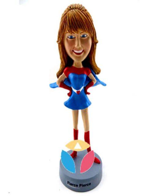 Custom Prim and Proper Pam Superhero Bobblehead