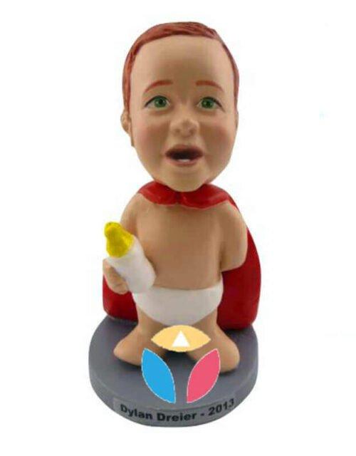 Custom Superbaby Holding Milk Bobbleheads