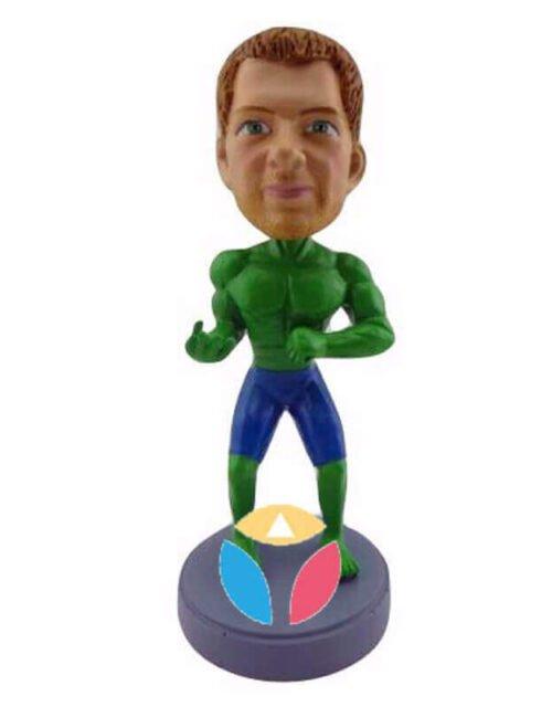 Green and Mean custom bobblehead