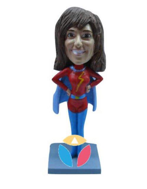 Heart Superhero Female Custom Bobbleheads Doll