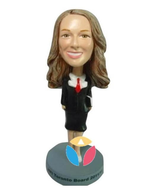 The Young Professional Woman Custom Bobblehead Doll