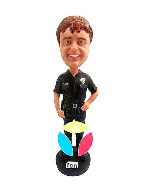Custom policeman bobbleheads