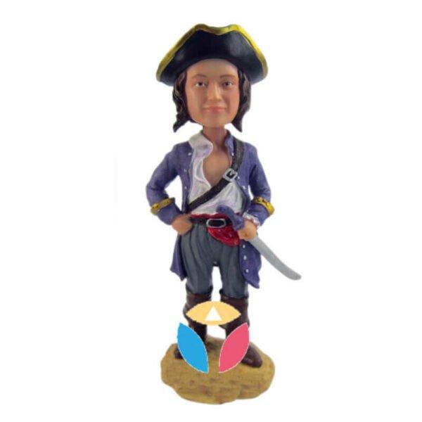 Pirate Captain Custom Bobbleheads Doll