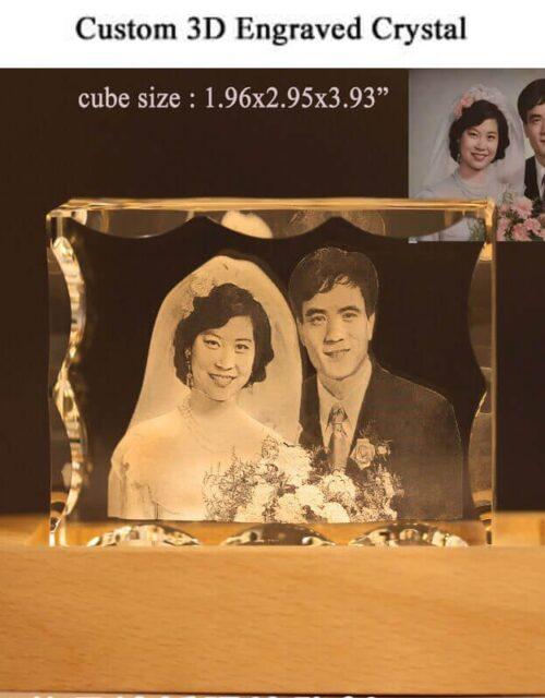 3d crystal photo cube